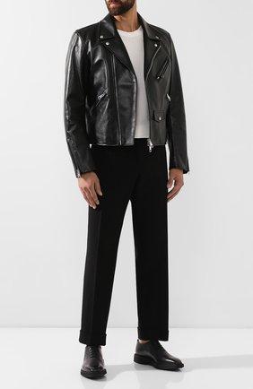 Мужские кожаные оксфорды BERLUTI черного цвета, арт. S4897-001 | Фото 2