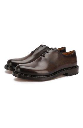 Мужские кожаные оксфорды BERLUTI темно-коричневого цвета, арт. S4897-002 | Фото 1