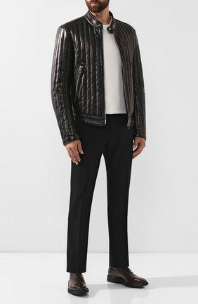 Мужские кожаные оксфорды BERLUTI темно-коричневого цвета, арт. S4897-002 | Фото 2