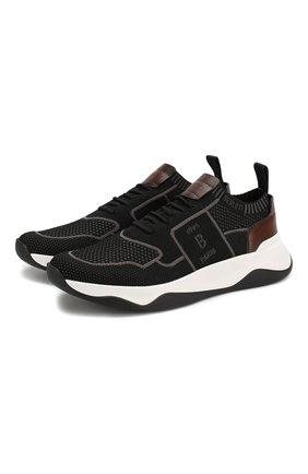 Мужские текстильные кроссовки BERLUTI черного цвета, арт. S4918-004 | Фото 1