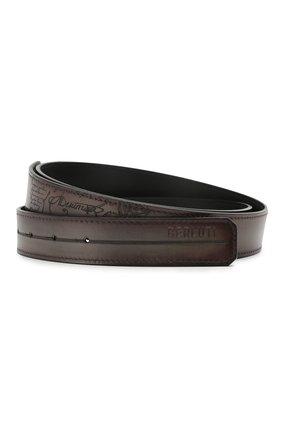 Мужской кожаный ремень BERLUTI коричневого цвета, арт. CS002-001 | Фото 1