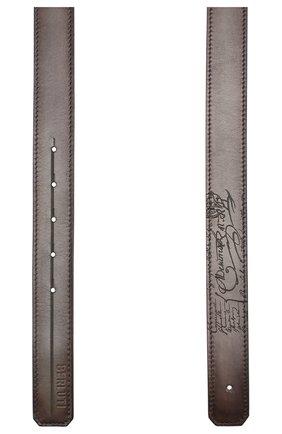 Мужской кожаный ремень BERLUTI коричневого цвета, арт. CS002-001 | Фото 2
