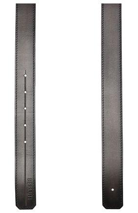 Мужской кожаный ремень BERLUTI черного цвета, арт. CS002-003 | Фото 2