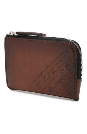 Мужская кожаный футляр для ключей BERLUTI коричневого цвета, арт. N185065 | Фото 2