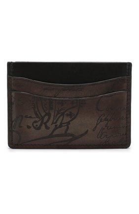 Мужской кожаный футляр для кредитных карт BERLUTI коричневого цвета, арт. N189760 | Фото 1