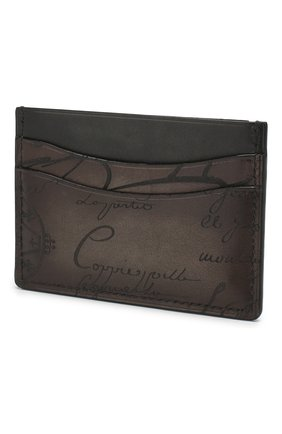 Мужской кожаный футляр для кредитных карт BERLUTI коричневого цвета, арт. N189760 | Фото 2