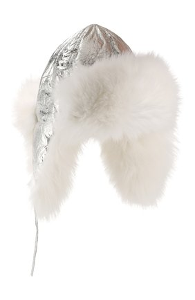 Шапка-ушанка с мехом лисицы | Фото №1