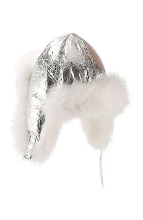 Шапка-ушанка с мехом лисицы | Фото №2