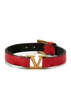 Кожаный браслет Valentino Garavani Go Logo | Фото №1