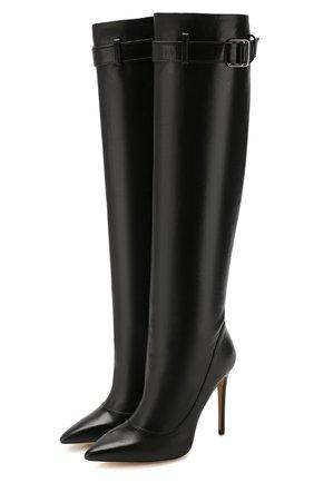 Женские кожаные сапоги vivian alto ALEKSANDERSIRADEKIAN черного цвета, арт. VIVIAN ALT0 11/LEATHER | Фото 1