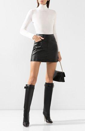 Женские кожаные сапоги vivian alto ALEKSANDERSIRADEKIAN черного цвета, арт. VIVIAN ALT0 11/LEATHER | Фото 2