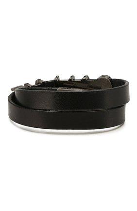 Женский кожаный браслет SAINT LAURENT черного цвета, арт. 586699/0IH6D | Фото 2