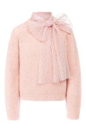 Женская свитер REDVALENTINO светло-розового цвета, арт. SR0KCB63/4LW | Фото 1