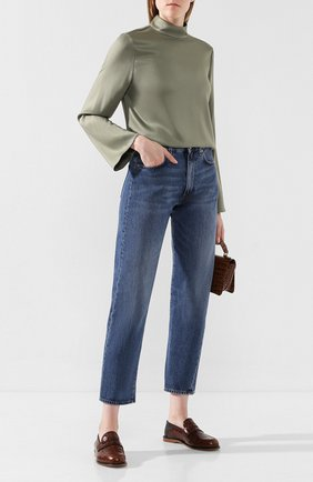 Женские джинсы TOTÊME синего цвета, арт. 0RIGINAL DENIM 32 193-232-740 | Фото 2