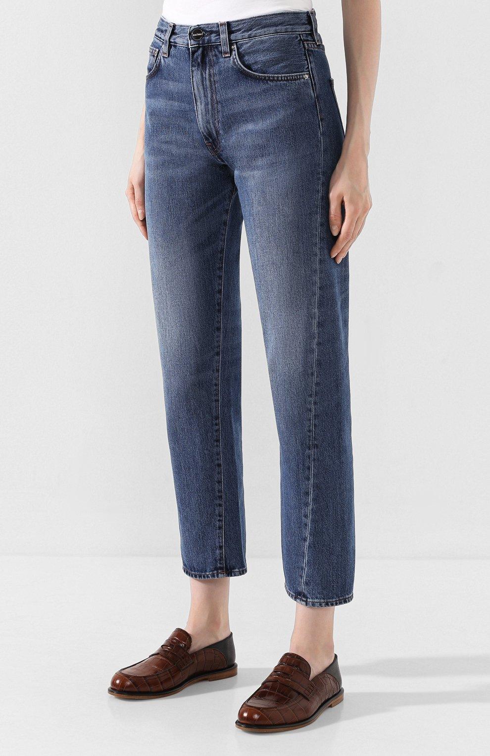 Женские джинсы TOTÊME синего цвета, арт. 0RIGINAL DENIM 32 193-232-740 | Фото 3