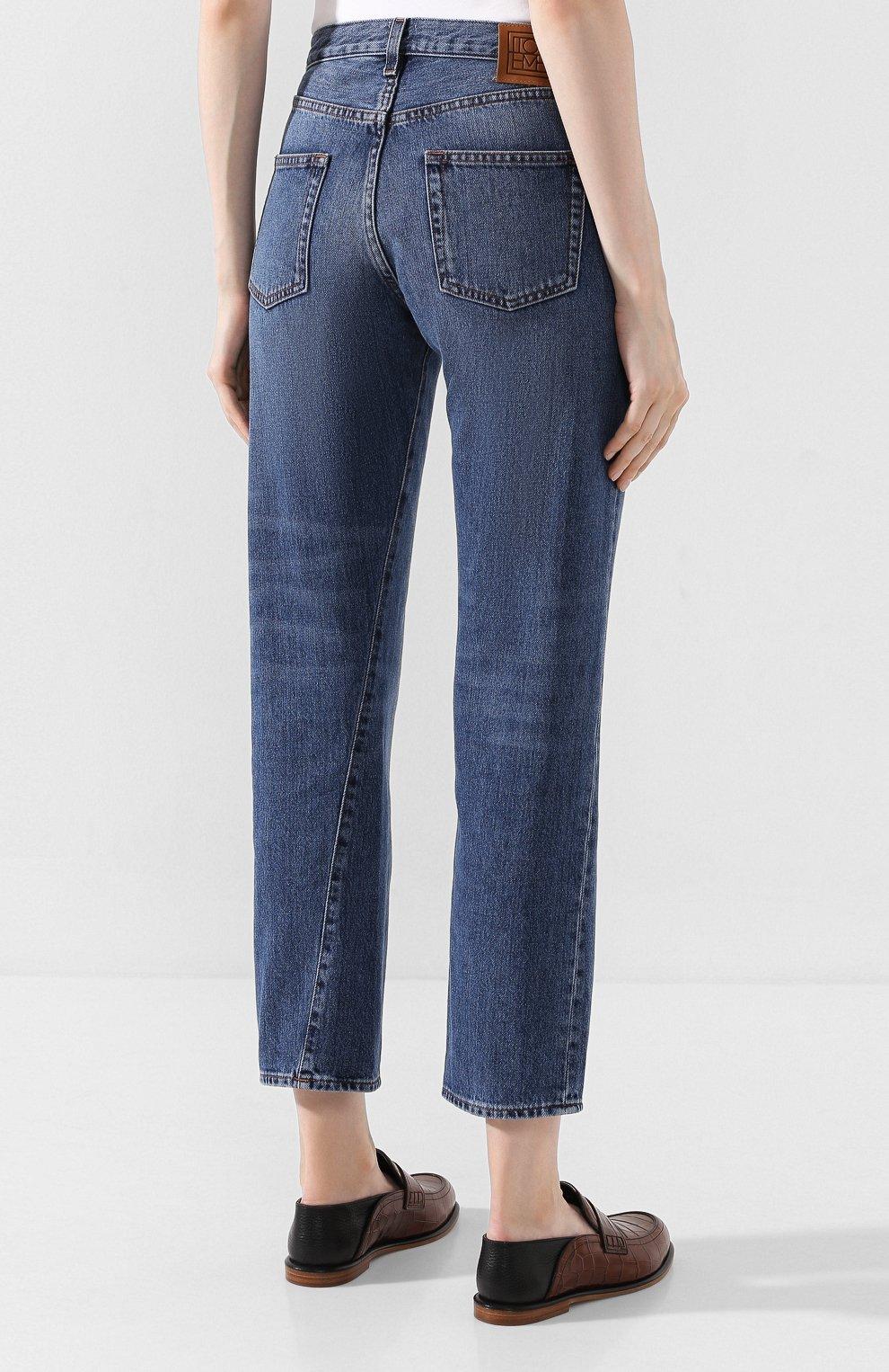Женские джинсы TOTÊME синего цвета, арт. 0RIGINAL DENIM 32 193-232-740 | Фото 4