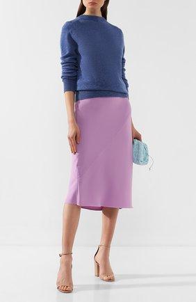 Женская пуловер из смеси шерсти и кашемира MARC JACOBS RUNWAY голубого цвета, арт. K2190092   Фото 2