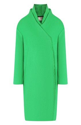 Женское шерстяное пальто DOROTHEE SCHUMACHER зеленого цвета, арт. 543801/EXTRAVAGANT V0LUMES | Фото 1