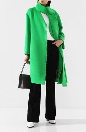 Женское шерстяное пальто DOROTHEE SCHUMACHER зеленого цвета, арт. 543801/EXTRAVAGANT V0LUMES | Фото 2