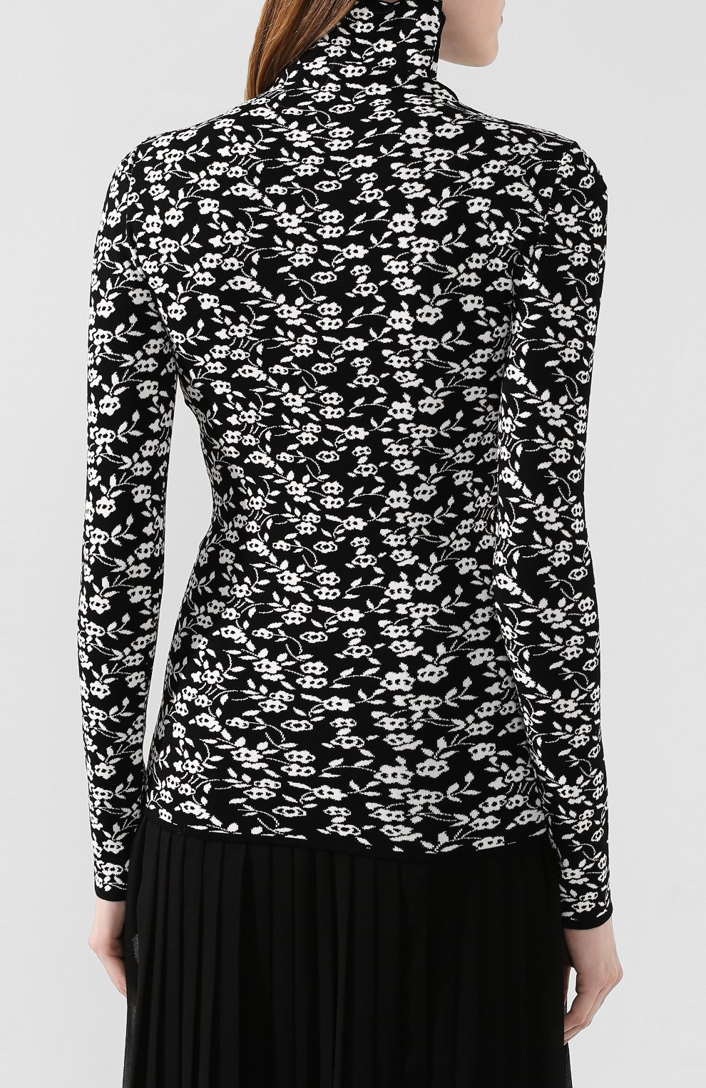 Женская водолазка с принтом DODO BAR OR черного цвета, арт. DB01060 | Фото 4