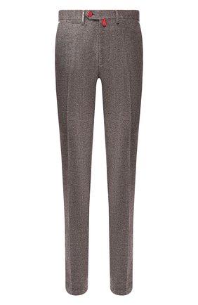 Мужской шерстяные брюки KITON коричневого цвета, арт. UFPP79K01S48   Фото 1