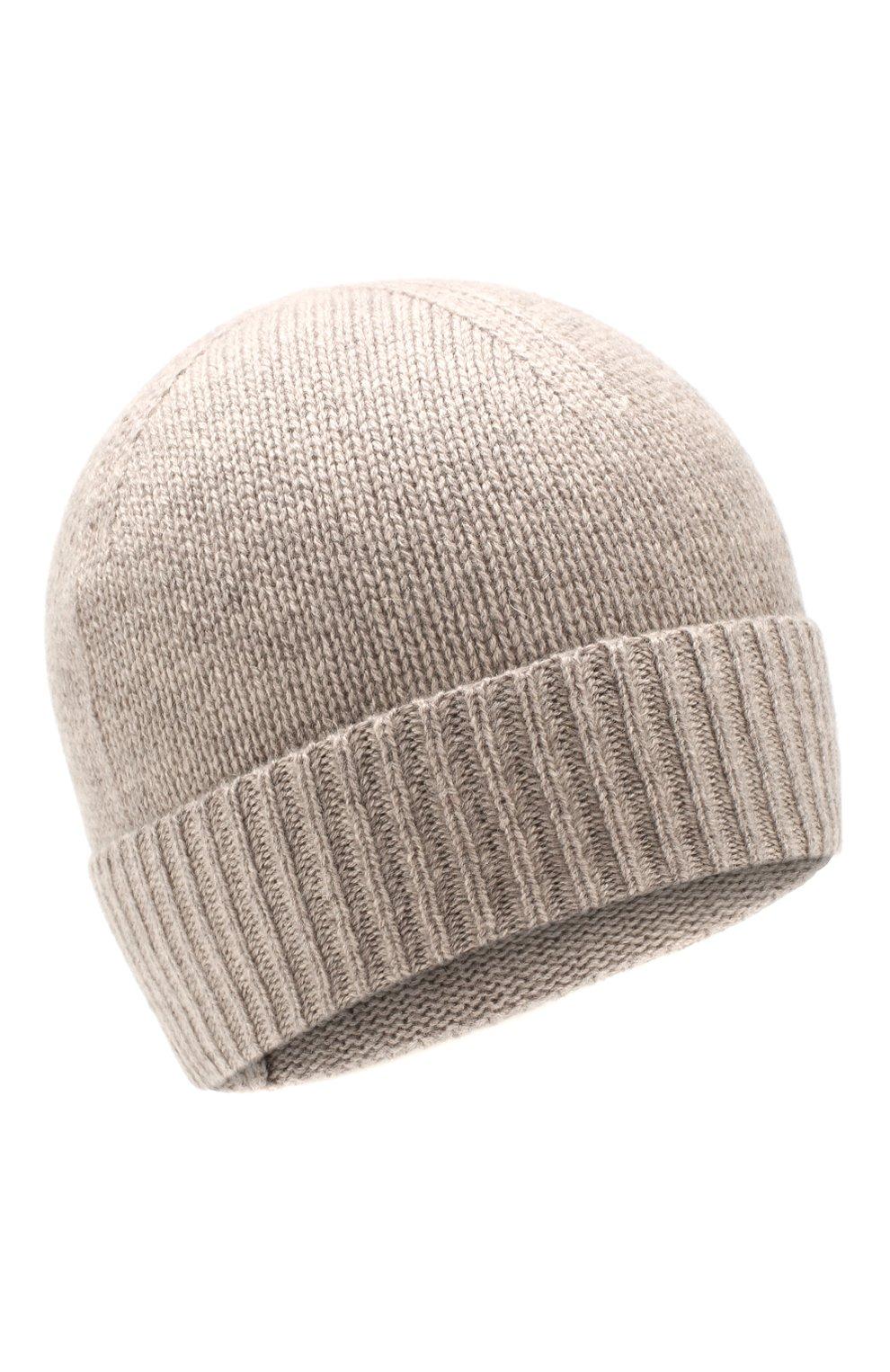 Мужская кашемировая шапка FTC бежевого цвета, арт. 768-0290 | Фото 1
