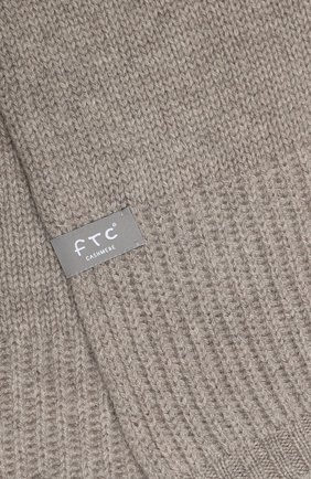 Мужской кашемировый шарф FTC бежевого цвета, арт. 768-0280 | Фото 2