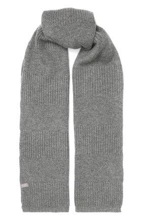 Мужской кашемировый шарф FTC серого цвета, арт. 768-0280 | Фото 1