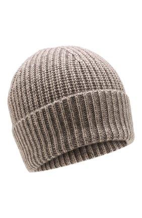 Мужская кашемировая шапка FTC светло-коричневого цвета, арт. 768-0240 | Фото 1