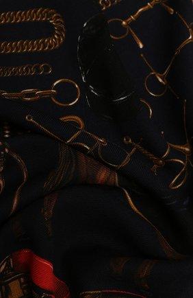 Мужской шерстяной шарф RALPH LAUREN синего цвета, арт. 791773367 | Фото 2