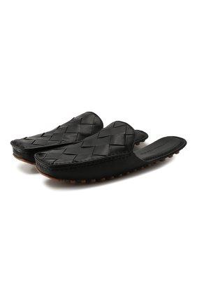 Мужские кожаные сабо BOTTEGA VENETA черного цвета, арт. 580438/VBPU1 | Фото 1