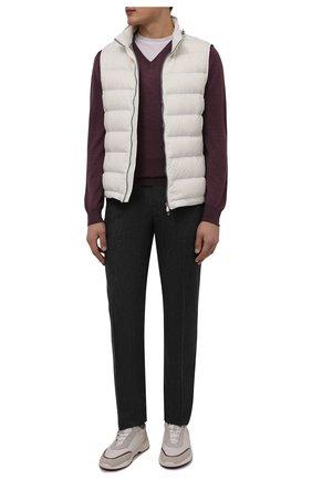Мужской пуловер из шерсти и шелка GRAN SASSO темно-розового цвета, арт. 57115/13190 | Фото 2 (Длина (для топов): Стандартные; Рукава: Длинные; Материал внешний: Шелк, Шерсть; Мужское Кросс-КТ: Пуловеры; Статус проверки: Проверено, Проверена категория; Принт: Без принта; Вырез: V-образный)