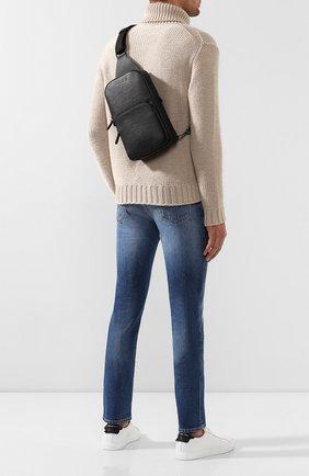 Мужской кожаный рюкзак ERMENEGILDO ZEGNA черного цвета, арт. C1532J-LHJAK   Фото 2
