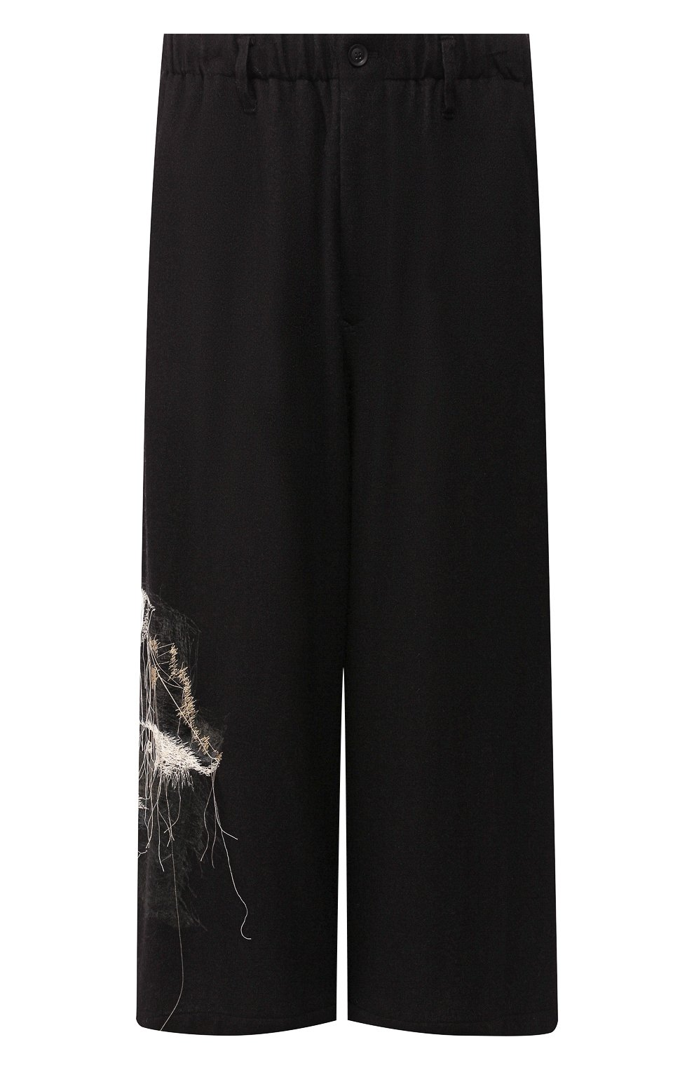 Мужские шерстяные брюки YOHJI YAMAMOTO черного цвета, арт. HC-P71-514 | Фото 1