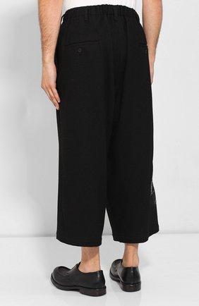 Мужские шерстяные брюки YOHJI YAMAMOTO черного цвета, арт. HC-P71-514 | Фото 4