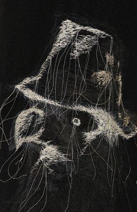 Мужские шерстяные брюки YOHJI YAMAMOTO черного цвета, арт. HC-P71-514 | Фото 5
