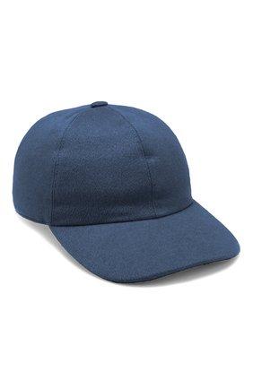 Мужской кашемировая бейсболка LORO PIANA синего цвета, арт. FAI8857 | Фото 1