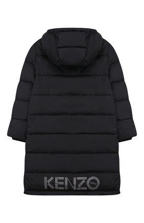 Детское пальто с капюшоном KENZO черного цвета, арт. KP42558 | Фото 2