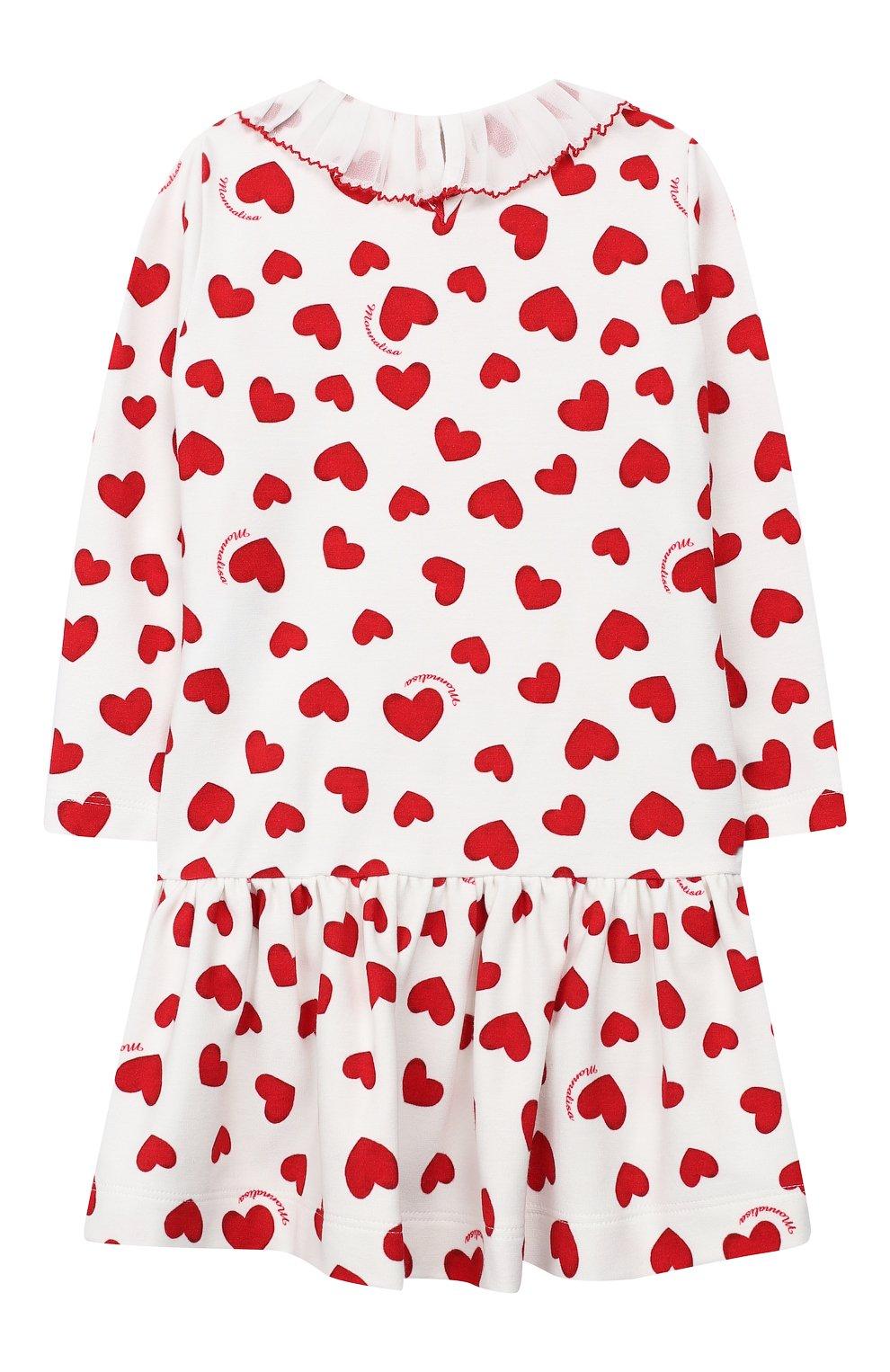 Женский платье MONNALISA красного цвета, арт. 314917 | Фото 2