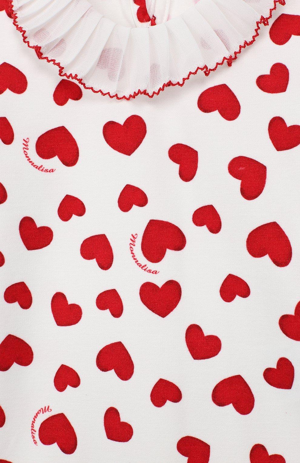Женский платье MONNALISA красного цвета, арт. 314917 | Фото 3