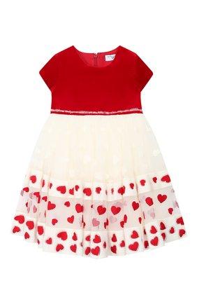 Женский платье MONNALISA красного цвета, арт. 314918 | Фото 1