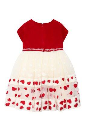 Женский платье MONNALISA красного цвета, арт. 314918 | Фото 2