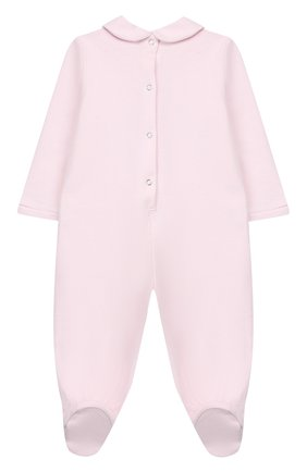 Детский хлопковый комбинезон MONNALISA розового цвета, арт. 354215PM | Фото 2