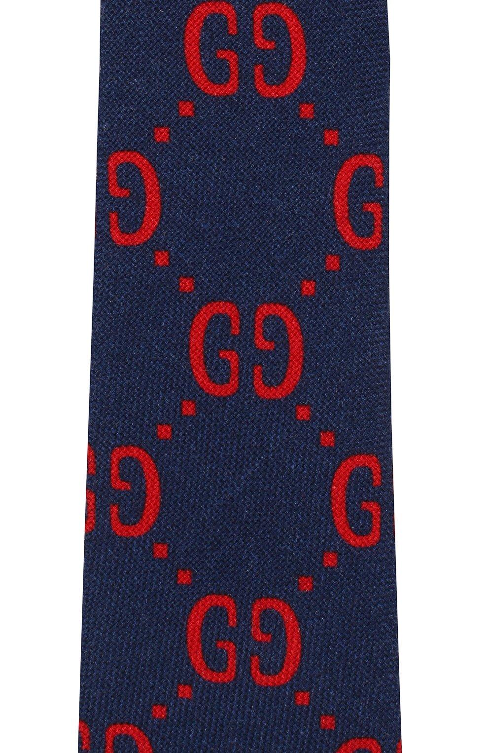 Детский галстук из шерсти и шелка GUCCI красного цвета, арт. 529320/4K515 | Фото 3