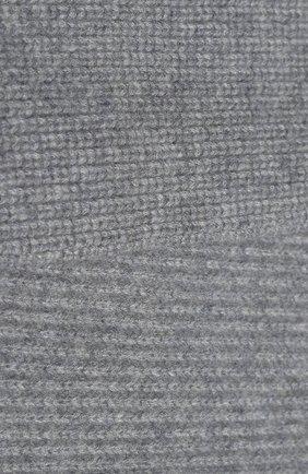 Детский кашемировый шарф с меховой отделкой YVES SALOMON ENFANT серого цвета, арт. 20WEA504XXCARD | Фото 2