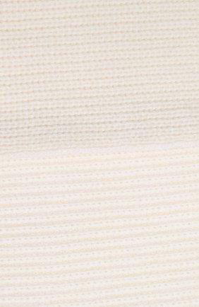 Детский кашемировый шарф с меховой отделкой YVES SALOMON ENFANT белого цвета, арт. 20WEA504XXCARD   Фото 2