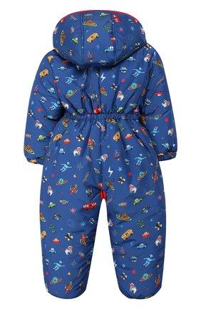Детский комбинезон с капюшоном ALETTA синего цвета, арт. R999056ST/1M-2A | Фото 2