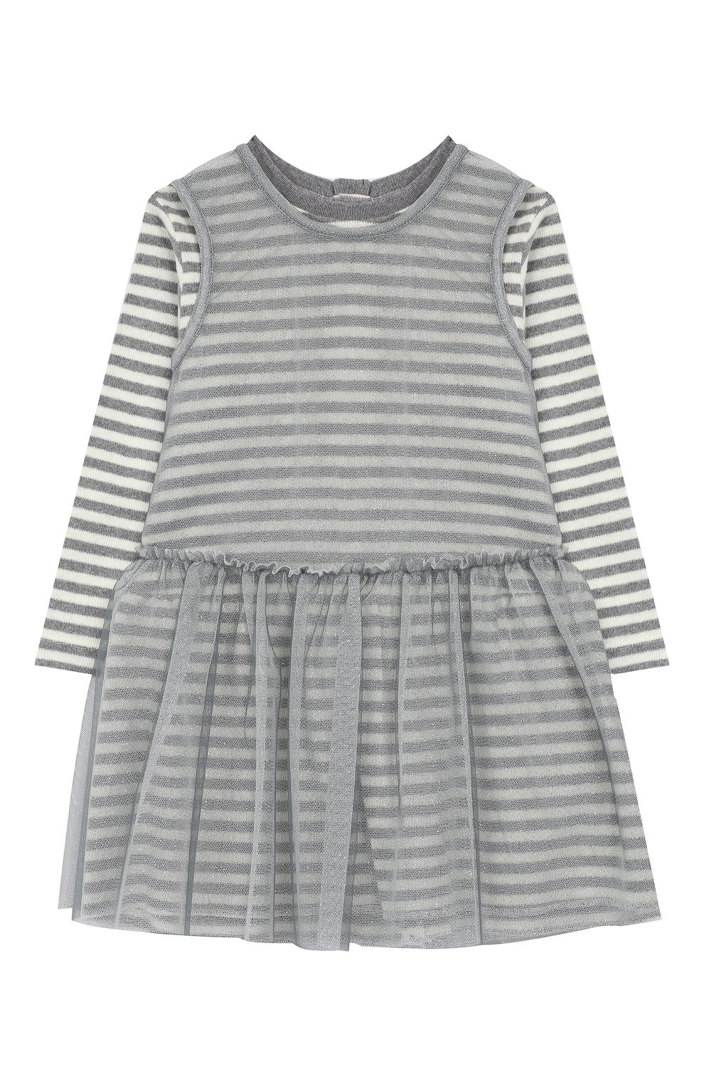 Женская хлопковое платье ALETTA серого цвета, арт. RW999232M/1M-2A | Фото 1