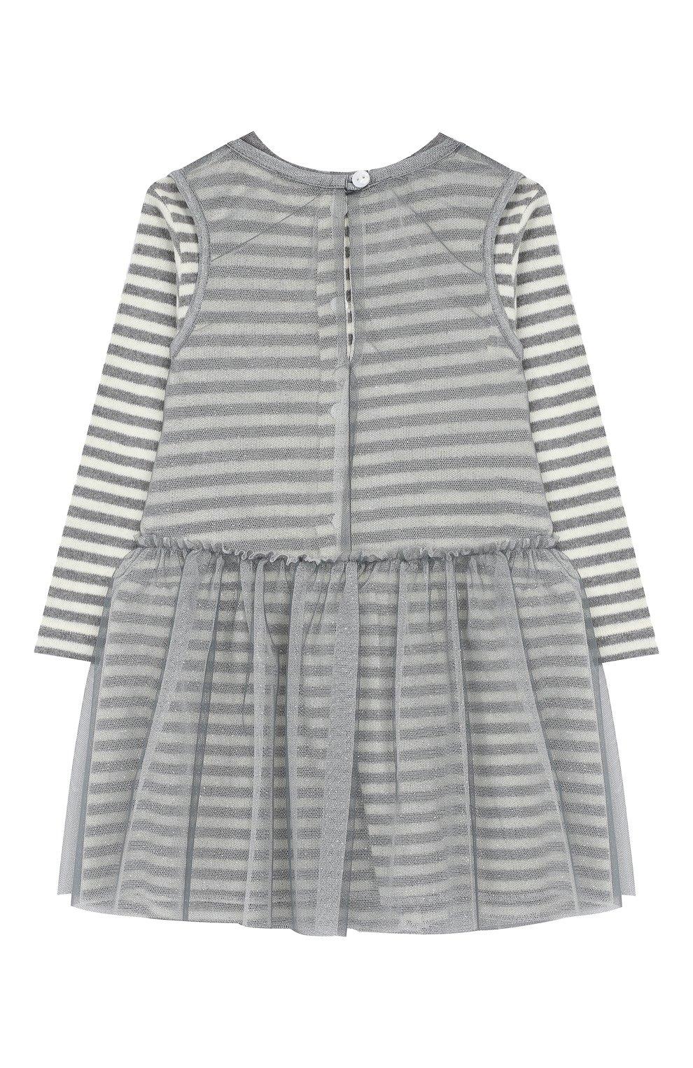 Женская хлопковое платье ALETTA серого цвета, арт. RW999232M/1M-2A | Фото 2