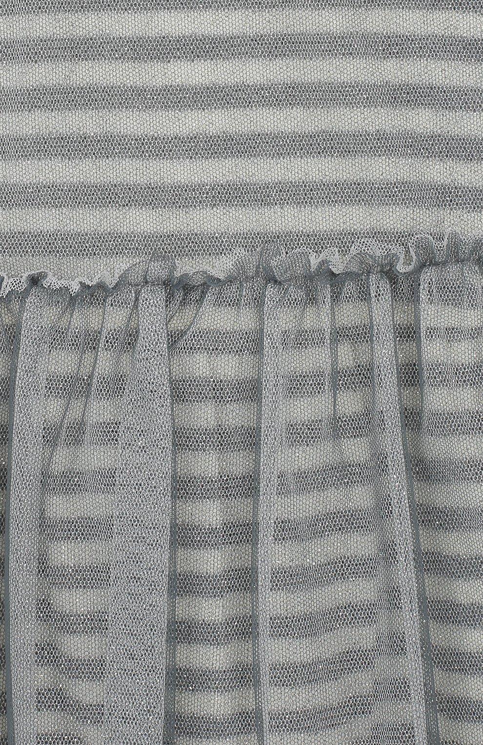 Женская хлопковое платье ALETTA серого цвета, арт. RW999232M/1M-2A | Фото 3